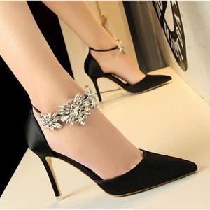 ESCARPIN Cristal Boucle Chaussures de Mariage des Femmes Mo
