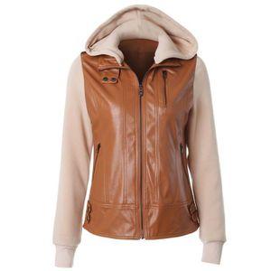 Manteau femme Cuir et Synthétique - Achat   Vente Manteau femme Cuir ... 62ee0c387cb