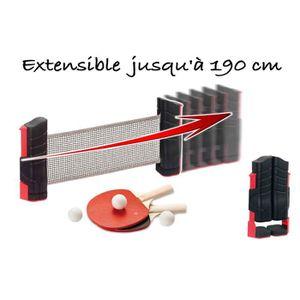 KIT TENNIS DE TABLE CDTS Kit Ping pong poteaux et filet extensible - 2