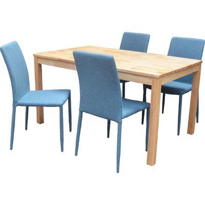 De Cuisine Bleu Table 4 Et Vente Achat Ensemble Rino Chaises jLR345A