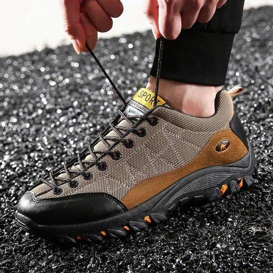 Basket Chaussures de sport pour hommes Chaussures de course légère Orange Orange - Achat / Vente basket