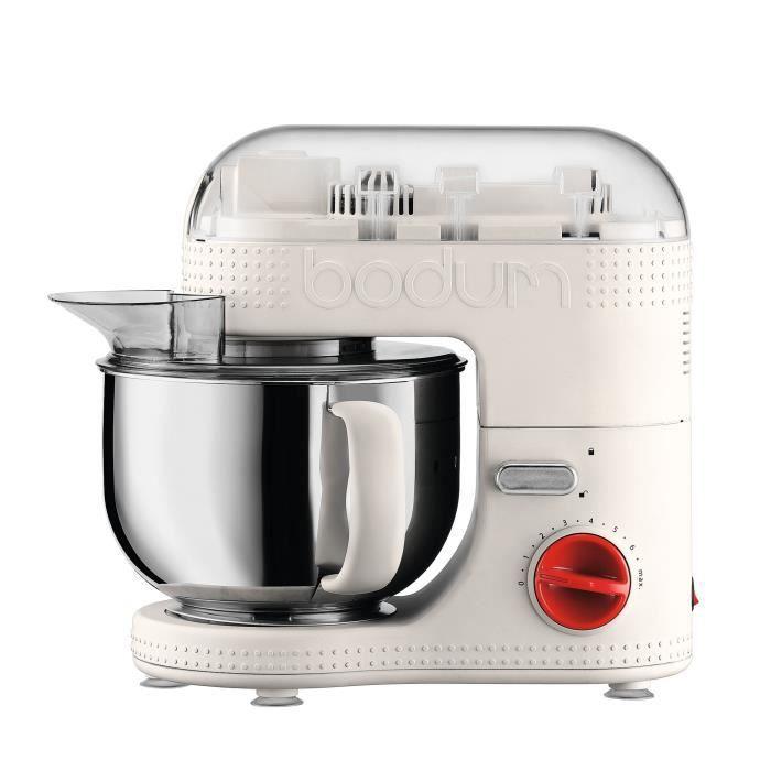 BODUM 11381-913EURO-3 Bistro Robot de cuisine électrique - Bol inox 4,7 l - 700 W - Blanc crème