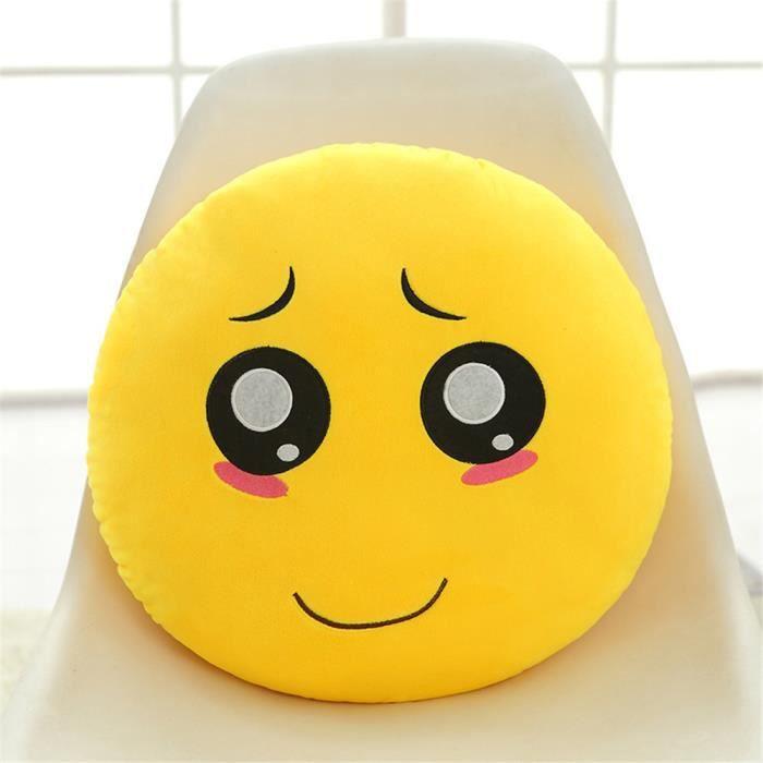 Emoticone Drole coussin drôle emoji émoticône pitoyable rond jouet poupée jouet