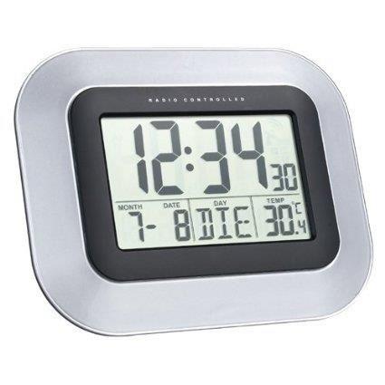 horloge murale dcf avec calendrier et affichage de la temperature