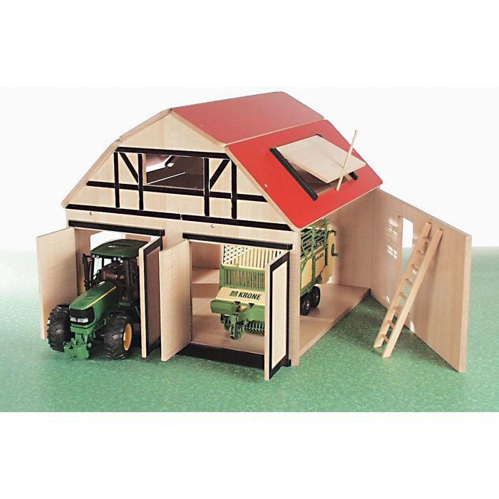 VOITURE À CONSTRUIRE Ferme en bois BRUDER pour 2 tracteurs Ferme en bo…