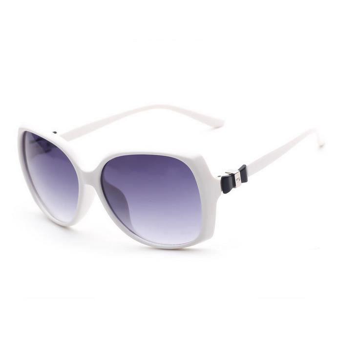 les lunettes de soleil (blanche) de lété