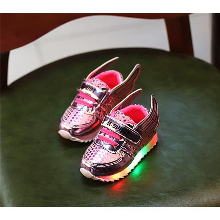 40eb604751ecc Chaussures LED pour enfants les enfants ont con... Rose - Achat ...