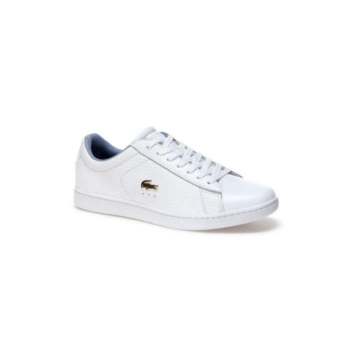 Lacoste Carnaby EVO 118 3 SPW Chaussures de sport en Blanc & Light Bleu 735SPW0010 1T3 Blanc Blanc - Achat / Vente basket  - Soldes* dès le 27 juin ! Cdiscount