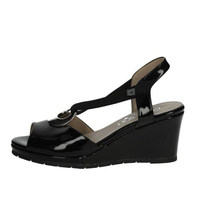 Cinzia Soft Sandale Femme Noir, 39