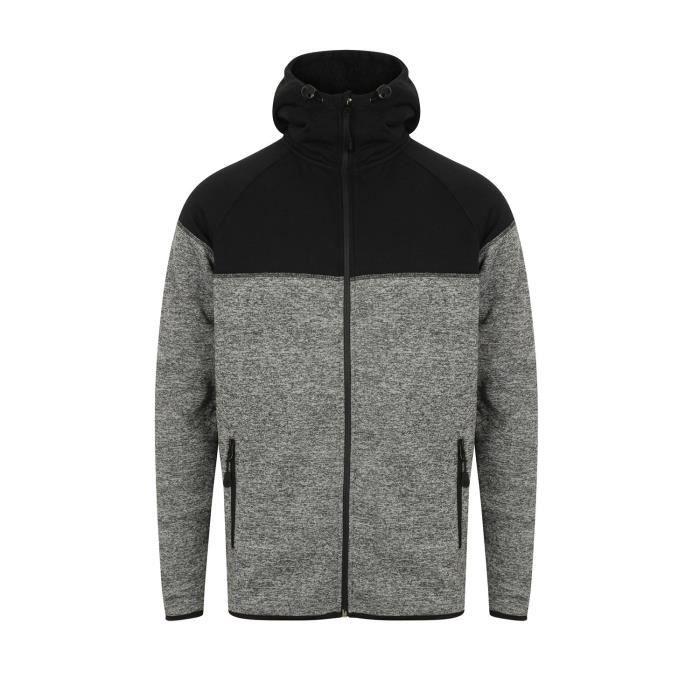 e1eab4f7df498 Dissident Sweat à capuche zippé doublé en laine polaire howley pour homme  1R6XM9 Taille-M