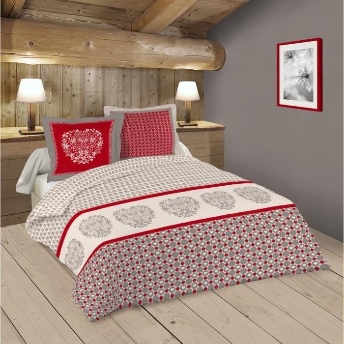 parure de lit rouge 260x240 - achat / vente parure de lit rouge