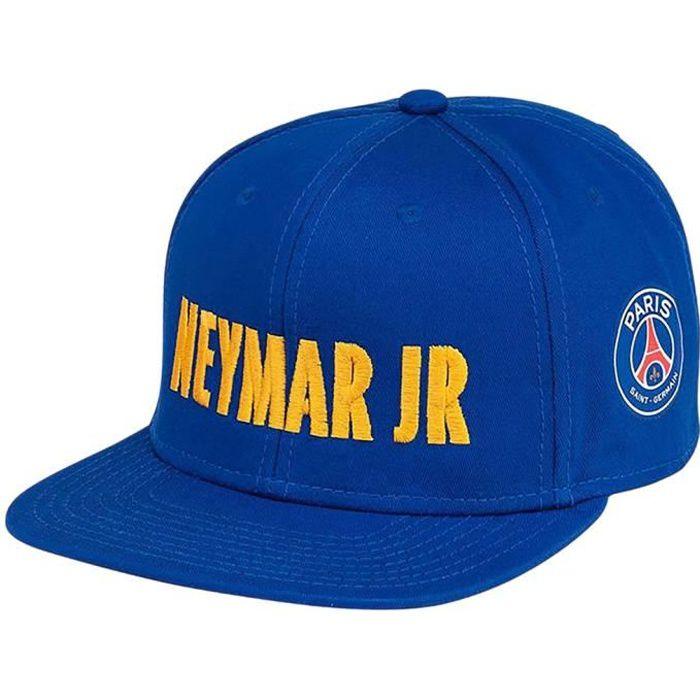 9170b5e6a2462 PSG - Casquette PSG 'Neymar Jr' Officielle à visière plate - Bleu ...
