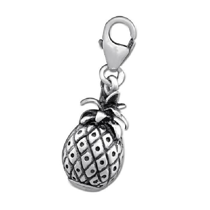 Charm Pampille à Fermoir Ananas Argent 925