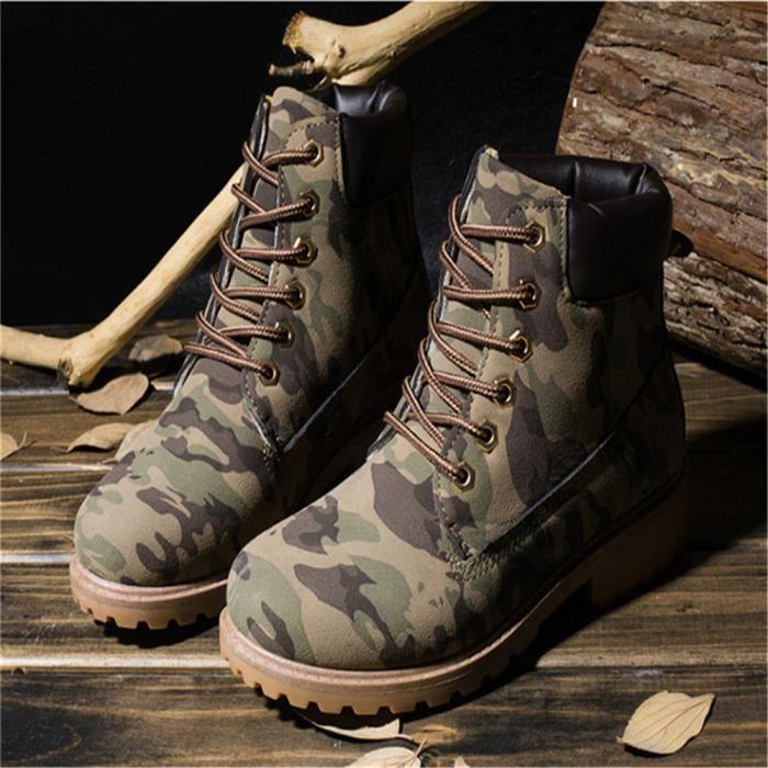 Martin Bottines Hommes Haute Qualité Haute Qualité En Cuir Peluche Boots GD-XZ030Gris40-jr
