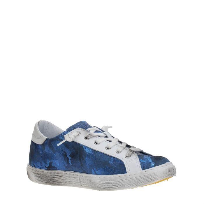 2 Star Sneakers Femme BLUE, 35