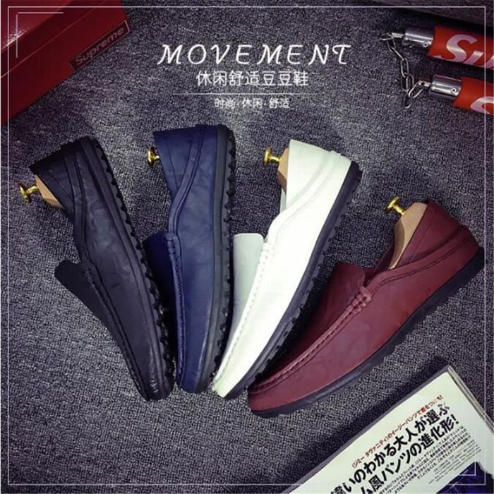 Moccasin homme en cuir Nouvelle Mode 2017 marque de luxe chaussure Respirant Poids Léger Loafer Grande Taille chaussures hommes 44