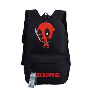 SAC À DOS Deadpool sac à dos en toile épaule sac d'école Mar