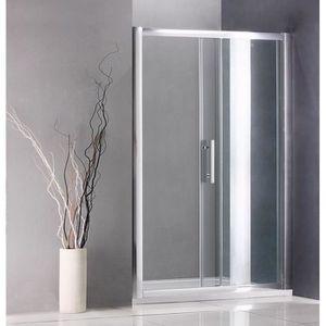 Paroi de douche noir achat vente paroi de douche noir - Porte coulissante douche 140 ...