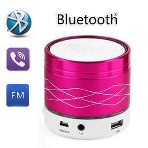 ENCEINTE NOMADE Light Metal SA20 Mini LED acier sans fil Bluetooth
