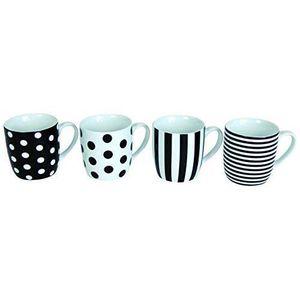BOL - MUG - MAZAGRAN NOVASTYL Lolita Lot 4 mugs 35cl - Noir décors asso
