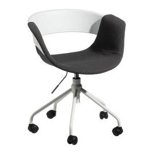 CHAISE DE BUREAU Chaise de bureau Tissu Gris foncé - BOOGIE - L 46