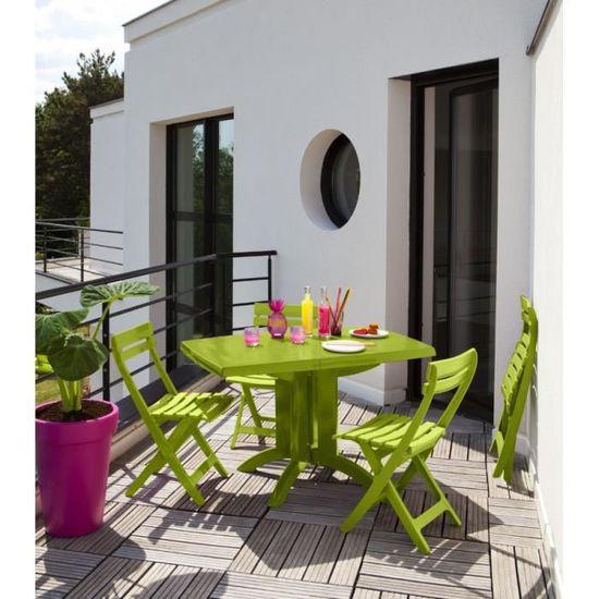 Salon de jardin Grosfillex vert anis - Achat / Vente salon de jardin ...