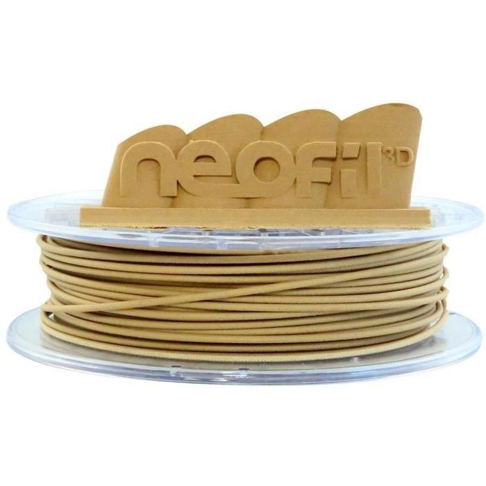 NEOFIL3D Filament pour Imprimante 3D WOOD - Bois Clair - 2,85 mm - 500g