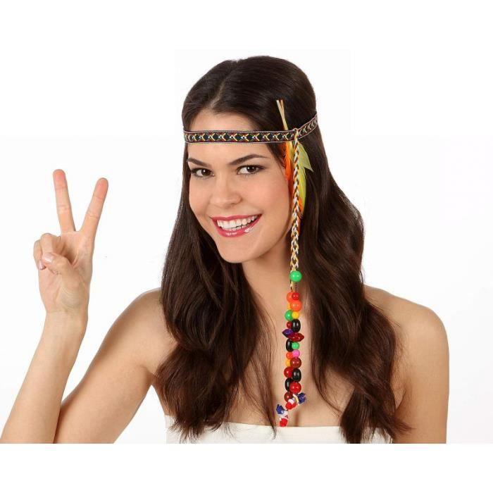 bandeau cheveux pour hippie avec plumes achat vente accessoire d guisement cdiscount. Black Bedroom Furniture Sets. Home Design Ideas