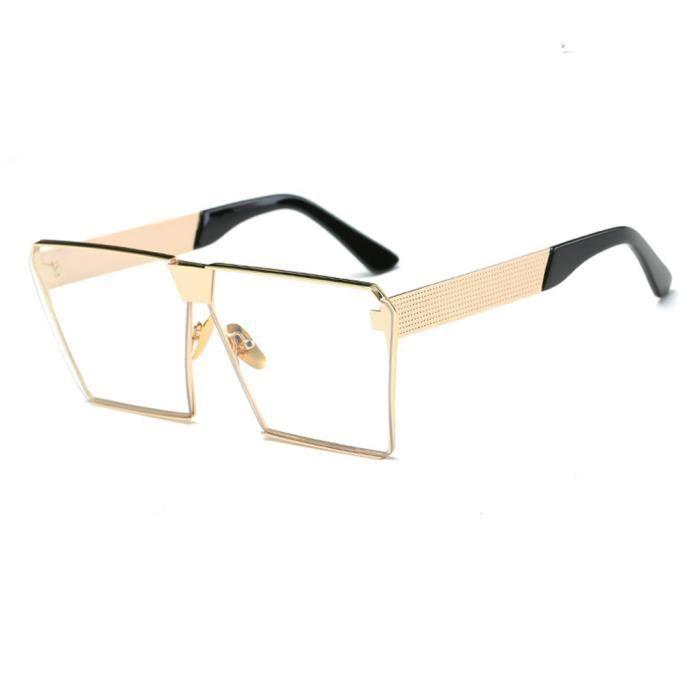 Lunettes de soleil mixte homme et femme marque de luxe sunglasses fashion Golden