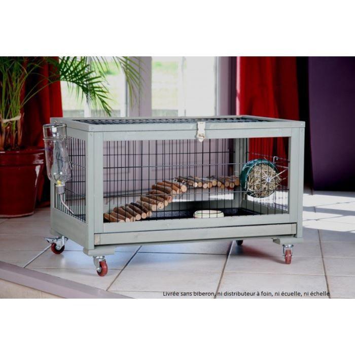 cage lapin inland en bois et roulettes 77 x 4 achat vente clapier cage lapin inland en. Black Bedroom Furniture Sets. Home Design Ideas