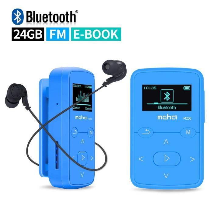 LECTEUR MP3 Lecteur MP3 Bluetooth 24 Go avec enregistrement vo