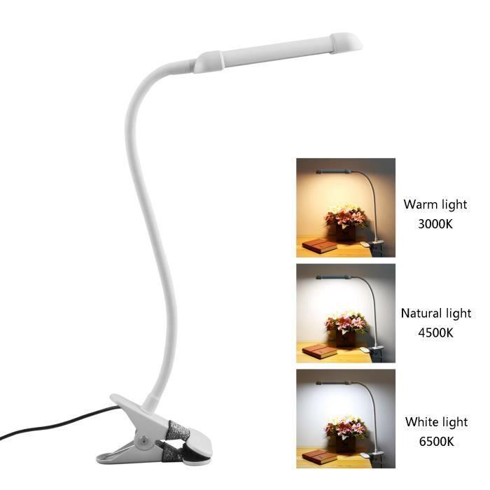 Clip Led Lampe De Chevet A Pince 3 Niveaux De Luminosites Lampe De