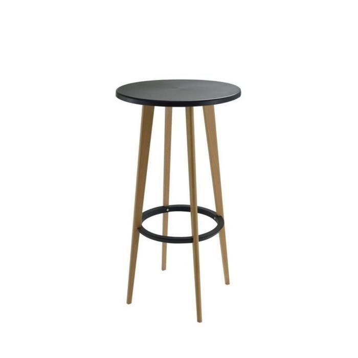 75bc2fae7e2296 Table de bar ronde design Harry s - Couleur - Noir - Achat   Vente ...
