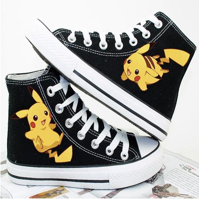 Dessinée Pikachu Pokemon De Bande Toile Chaussures Sport nYwzFx
