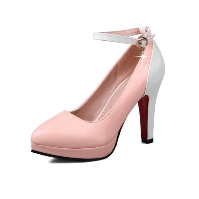 Escarpins Classiques Et élégants Pour Femme Correspondance De Couleur Bicolore Chaussures à Talons