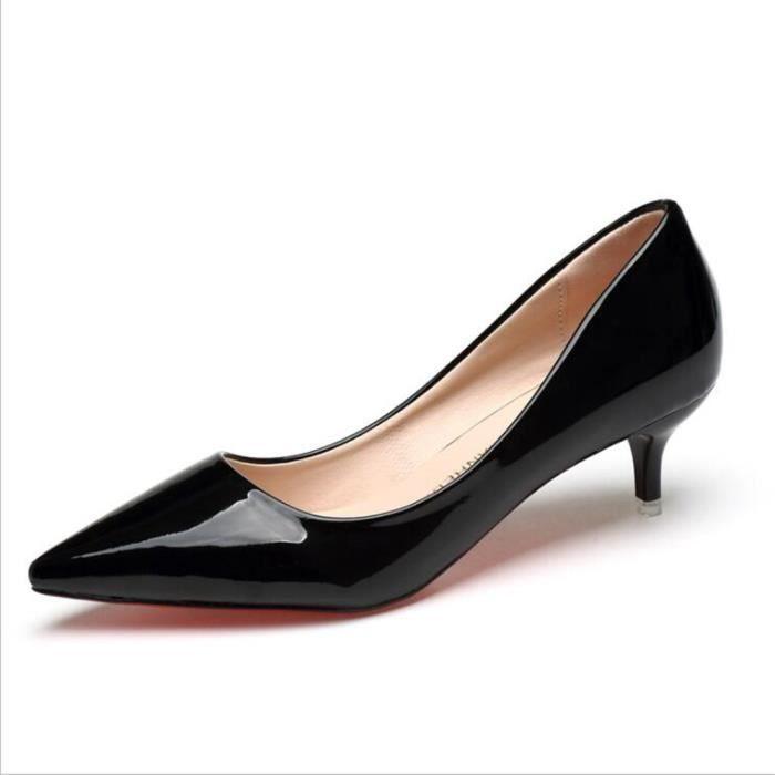 Femme Chaussure Nouvelle arrivee Femmes 2017 Talons hauts Marque De Luxe Chaussures noir rose marron Confortable Grande Taille