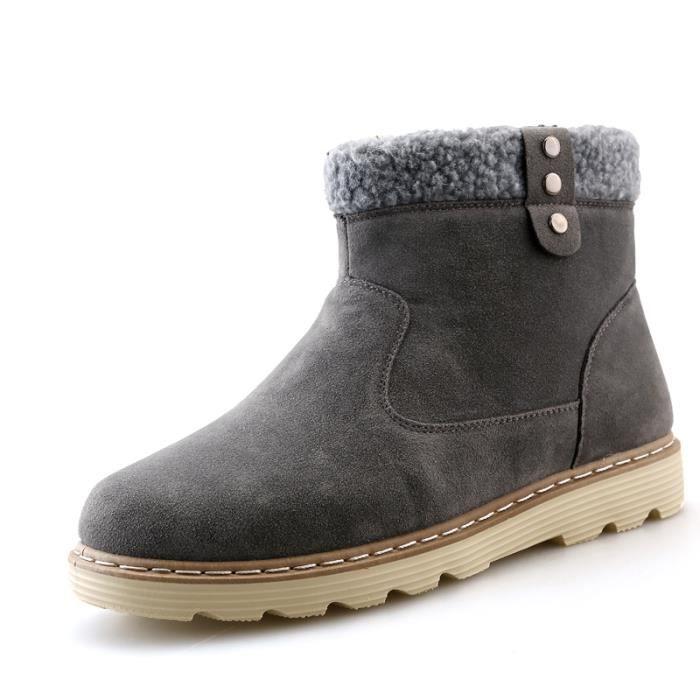 Chaussures Homme Bottes Courtes Avec Coton Hiver Mode Chaudement Montantes