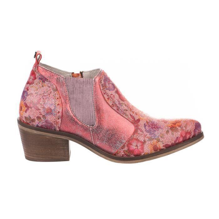 Boots femme - DKODE - Rouge - JADE - Millim