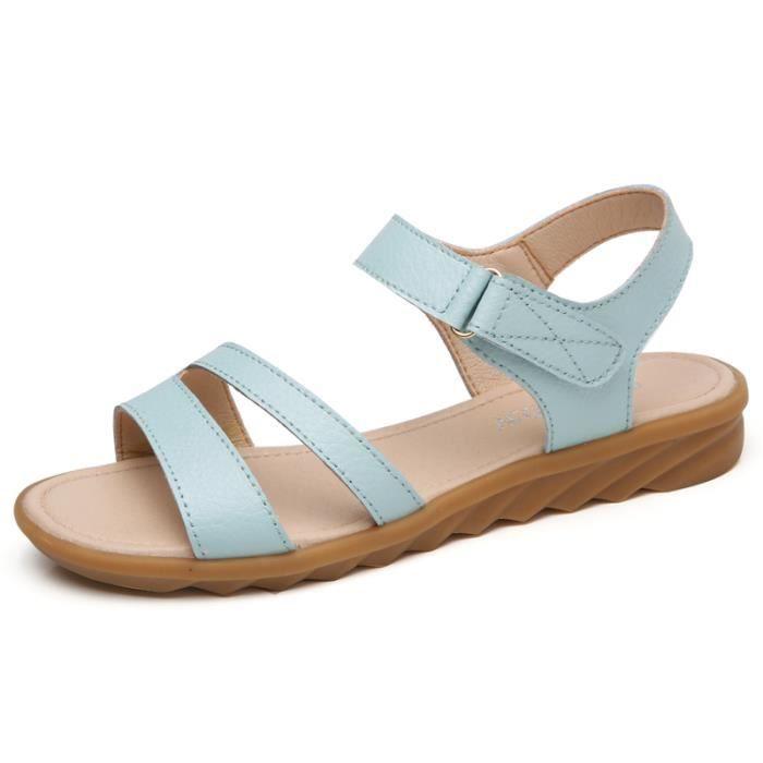 Sandales Blanc Casuel t pieds Femme Nu Compens TZ6TqSfF