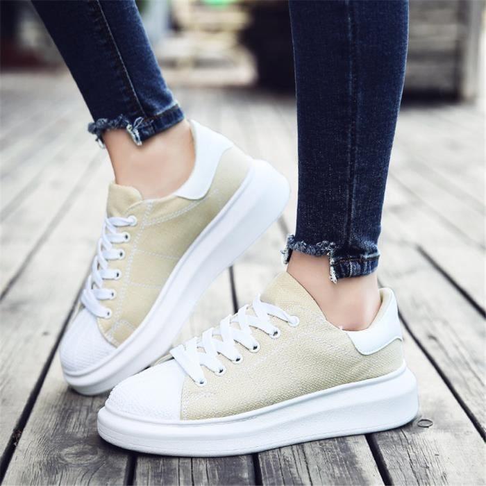 Plus Couleur Slip on Femme Espadrille Moccasins De Shoes Cool Chaussures Sneakers Taille Respirant Ms Grande Confortable gqqSw74zPx