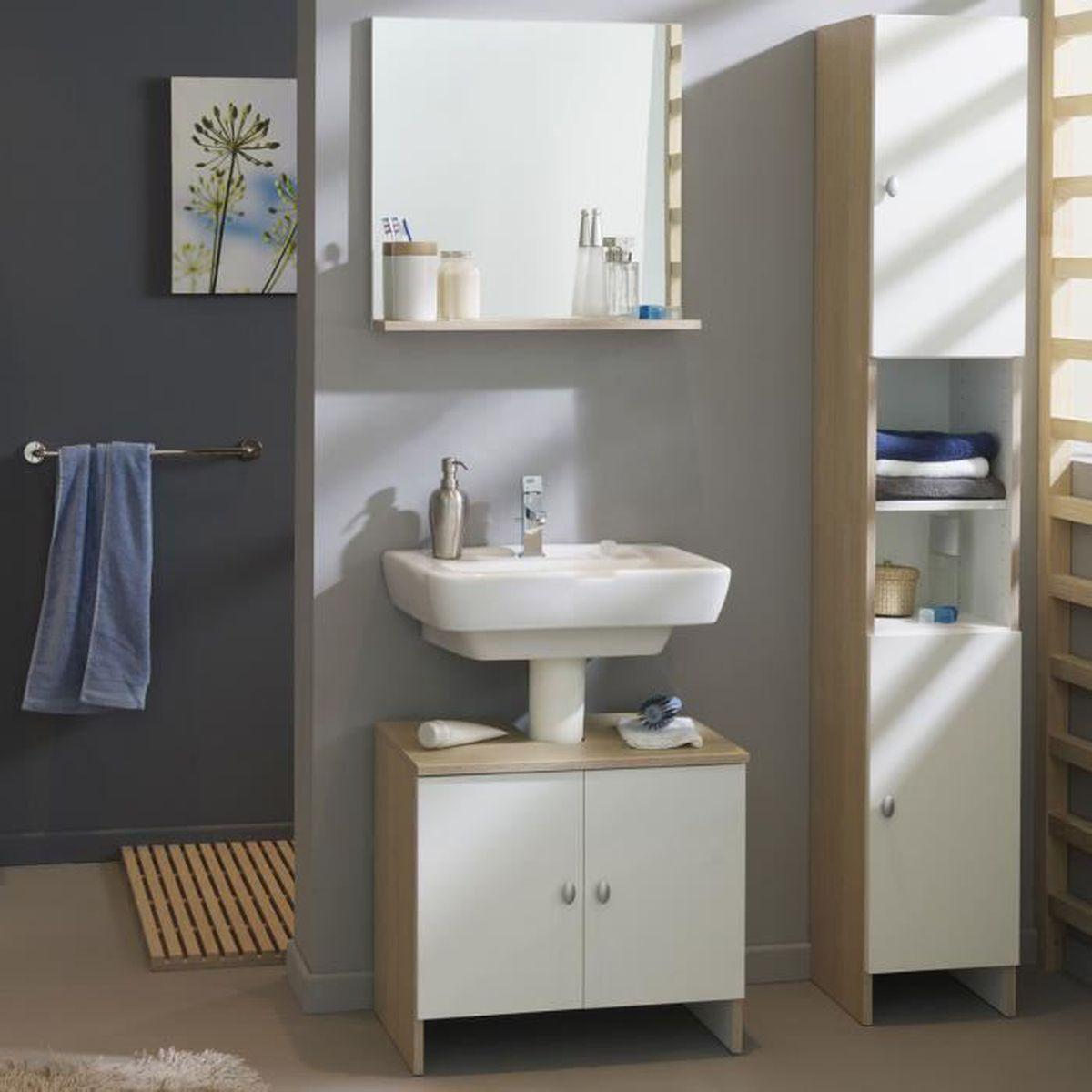 ensemble meuble sous lavabo colonne miroir baltimore. Black Bedroom Furniture Sets. Home Design Ideas