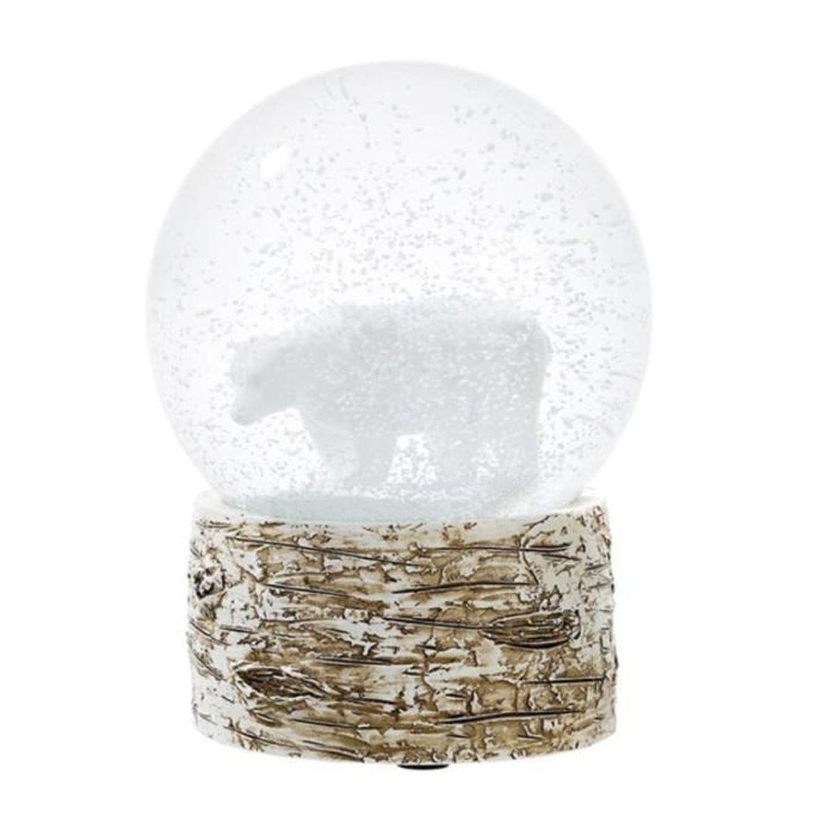 globe de neige de no l ours blanc achat vente boule de. Black Bedroom Furniture Sets. Home Design Ideas