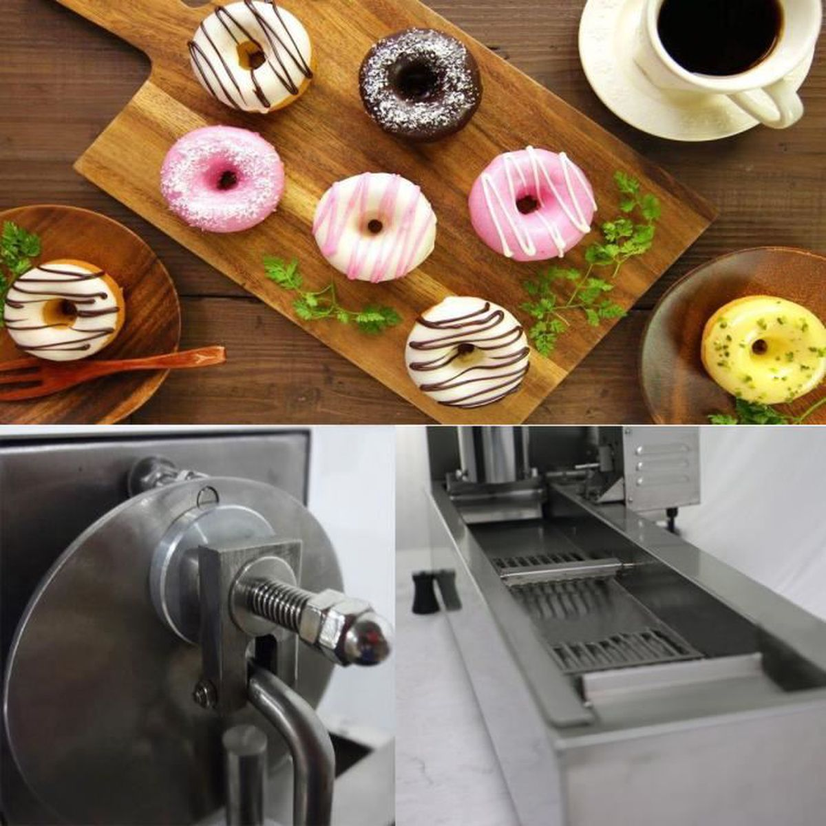 MACHINE À BEIGNET TEMPSA Machine A Donut Automatique Avec 3Pcs Moule