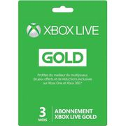 CARTE MULTIMEDIA Abonnement Xbox Live Gold 3 mois