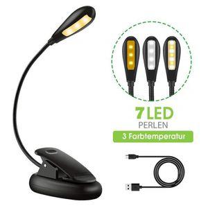 PIÈCE LUMINAIRE Home-Neat Rechargeable 7 LED Light lampe de lectur