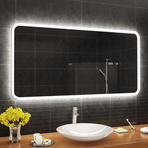 MIROIR SALLE DE BAIN ARTFORMA L59 150x90 cm Illumination LED miroir sur