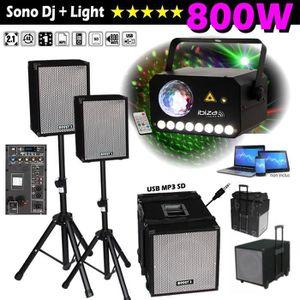 PACK SONO PACK SONO DJ BOOST Système Amplifié 800W + 2 ENCEI