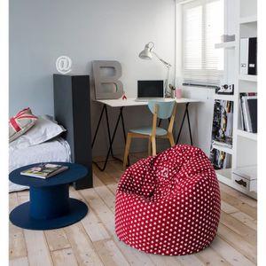 POUF - POIRE Poire pouf Hanko 100% coton 79x100 cm rouge et bla