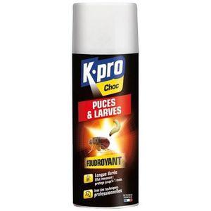 PRODUIT INSECTICIDE Puces et larves aérosol Kapo Choc - Aérosol 400 ml