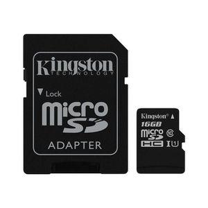 CARTE MÉMOIRE Kingston - 16Go Carte mémoire micro SD ( adaptateu